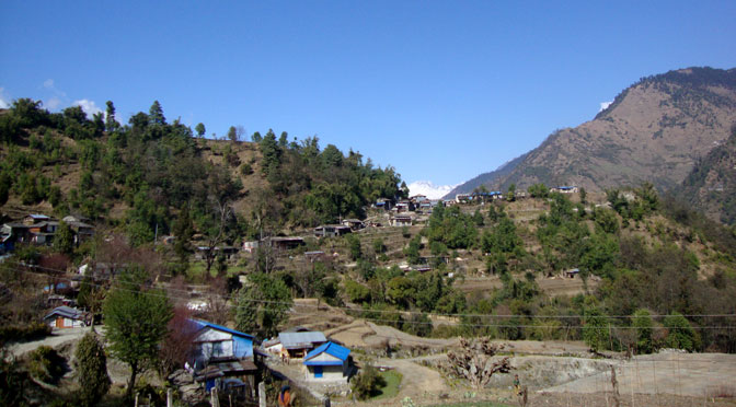 Village trekking in Nepal