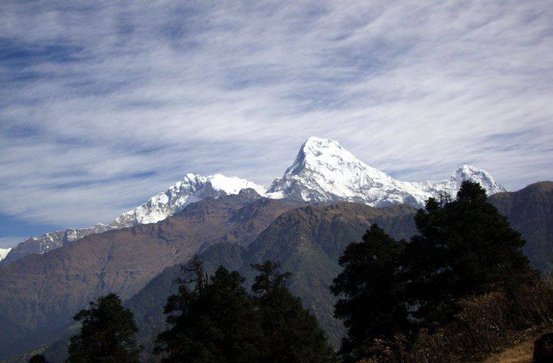 Poon hill Nepal during poon hill trek