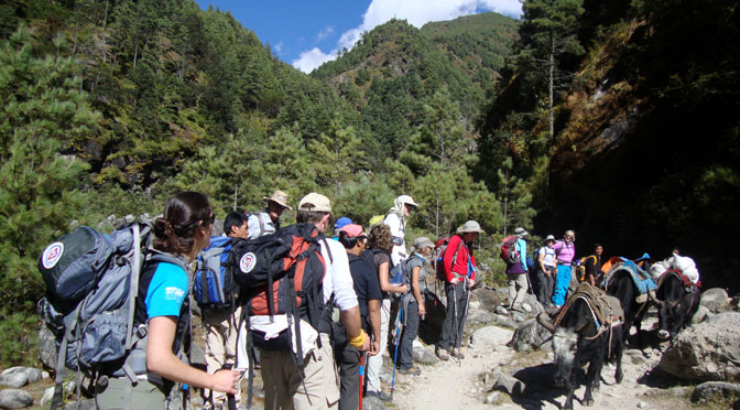 Nepal trekking - Trekking in Nepal photo