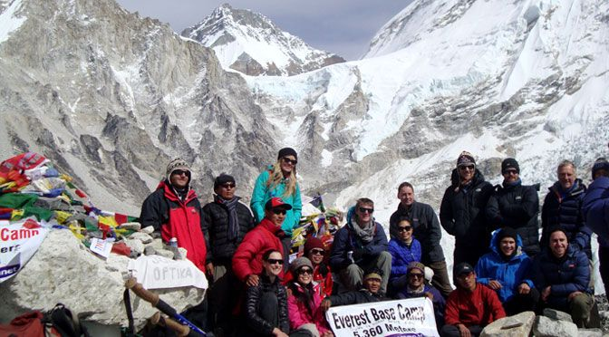 Everest base camp or EBC trail Jiri to Everest base camp trek