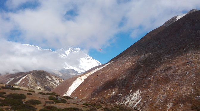 Helicopter tour Nepal visit Everest base camp