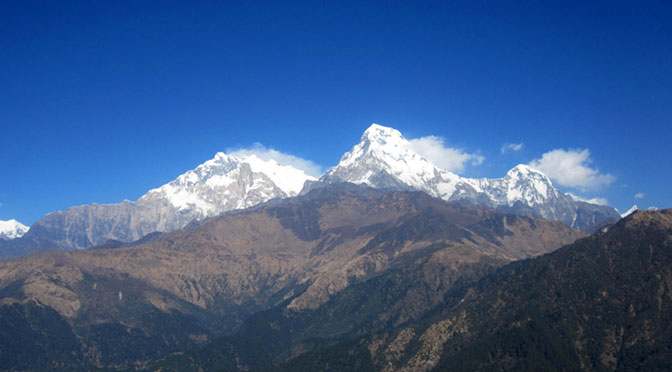 Yoga trek Nepal mount Annapurna view from poon hill