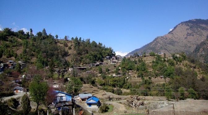Village trekking in Nepal