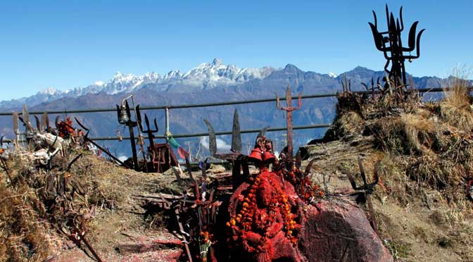 kalinchok bhagawati temple Dolakha Kalinchowk trek