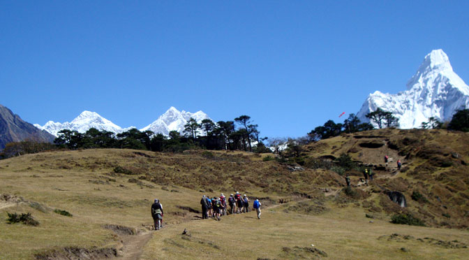 Hiking in Nepal Himalaya Nepal hiking photo